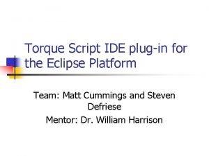 Torque Script IDE plugin for the Eclipse Platform