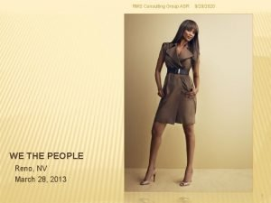 RMS Consulting Group ASR 9292020 WE THE PEOPLE