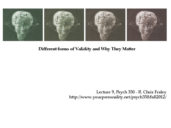 Different forms of Validity and Why They Matter