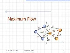 Maximum Flow c v 46 11 33 s