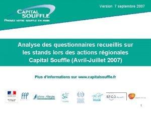 Version 7 septembre 2007 Tourne Capital Souffle du