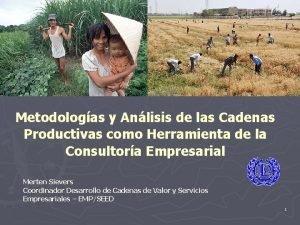 Metodologas y Anlisis de las Cadenas Productivas como