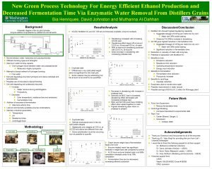 New Green Process Technology For Energy Efficient Ethanol