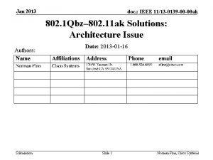Jan 2013 doc IEEE 1113 0139 00 00