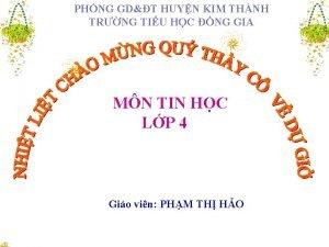 PHNG GDT HUYN KIM THNH TRNG TIU HC