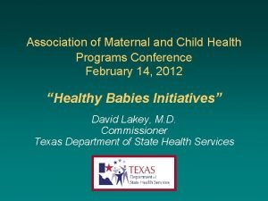 Association of Maternal and Child Health Programs Conference