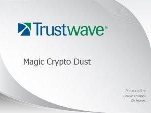 Magic Crypto Dust Presented by Damian Profancik integrisec