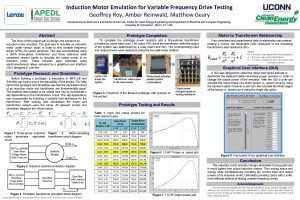 Induction Motor Emulation for Variable Frequency Drive Testing