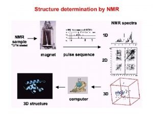 Structure determination by NMR NMR principles Data acquisition