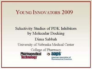 YOUNG INNOVATORS 2009 Selectivity Studies of PI 3