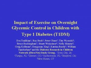 Impact of Exercise on Overnight Glycemic Control in