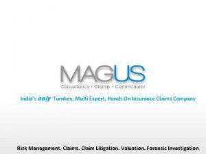 Indias only Turnkey Multi Expert Hands On Insurance