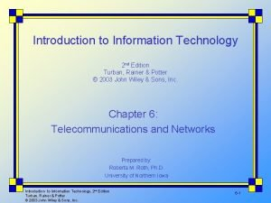 Introduction to Information Technology 2 nd Edition Turban