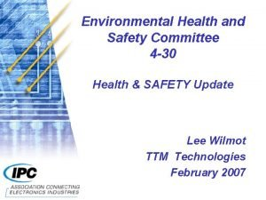 Environmental Health and Safety Committee 4 30 Health