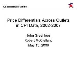 U S Bureau of Labor Statistics Price Differentials