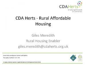 CDA Herts Rural Affordable Housing Giles Meredith Rural