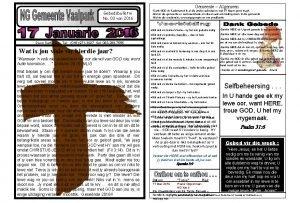 Gemeente Algemeen Gebedsbulletin No 03 van 2016 Deon