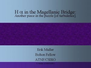 H in the Magellanic Bridge Another piece in