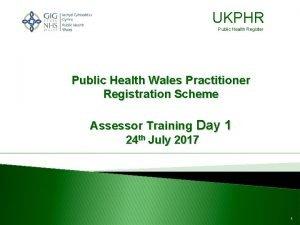 UKPHR Public Health Register Public Health Wales Practitioner