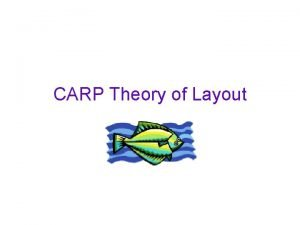 CARP Theory of Layout CONTRAST ALIGNMENT REPETITION PROXIMITY