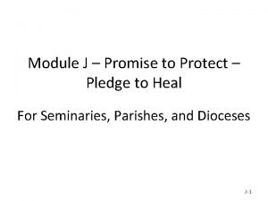 Module J Promise to Protect Pledge to Heal