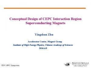 Conceptual Design of CEPC Interaction Region Superconducting Magnets