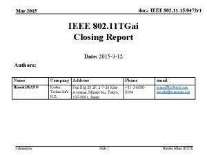 doc IEEE 802 11 150472 r 1 Mar