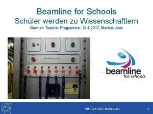 Beamline for Schools Schler werden zu Wissenschaftlern German