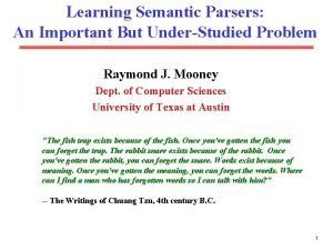 Learning Semantic Parsers An Important But UnderStudied Problem
