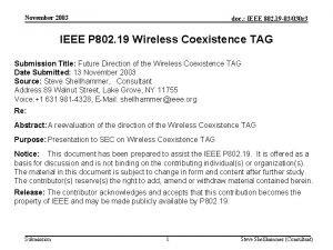 November 2003 doc IEEE 802 19 03030 r