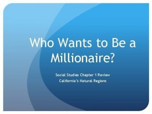 Who Wants to Be a Millionaire Social Studies