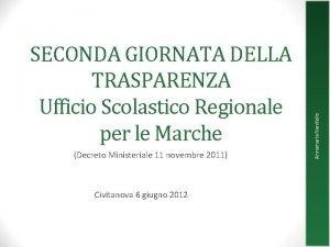 Decreto Ministeriale 11 novembre 2011 Civitanova 6 giugno