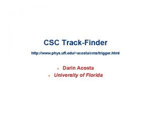 CSC TrackFinder http www phys ufl eduacostacmstrigger html