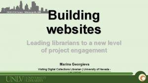 2018 LITA Forum Minneapolis MN Building websites Leading