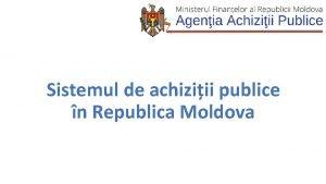 Sistemul de achiziii publice n Republica Moldova Grupul