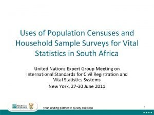 Uses of Population Censuses and Household Sample Surveys