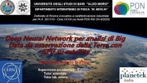 UNIVERSIT DEGLI STUDI DI BARI ALDO MORO DIPARTIMENTO