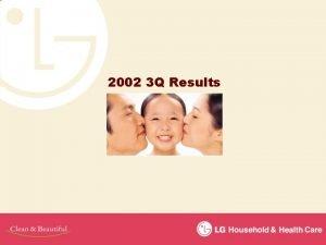 2002 3 Q Results Sales Profits 2002 3