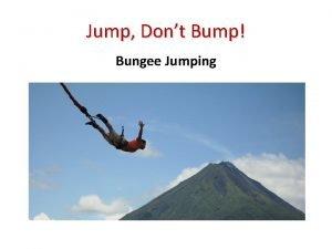 Jump Dont Bump Bungee Jumping Bell Ringer Adventures