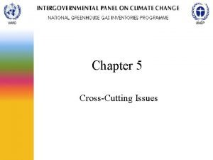 Chapter 5 CrossCutting Issues General Outline Covers issues