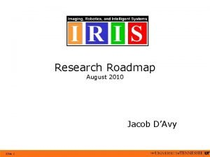 Research Roadmap August 2010 Jacob DAvy Slide 1