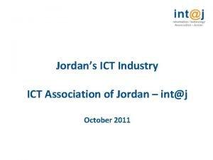 Jordans ICT Industry ICT Association of Jordan intj