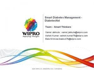 Smart Diabetes Management Diabetes Nxt Team Smart Thinkers
