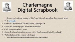 Charlemagne Digital Scrapbook 1 2 3 4 5