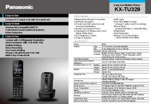Easy Use Mobile Phone KXTU 329 Easy to