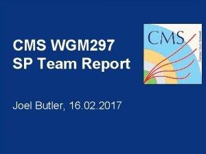 CMS WGM 297 SP Team Report Joel Butler