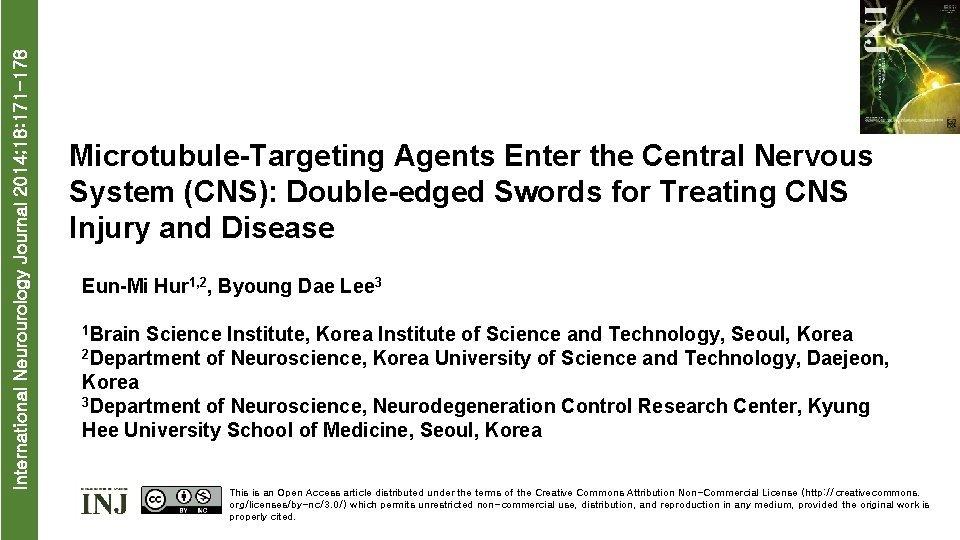 International Neurourology Journal 2014 18 171 178 MicrotubuleTargeting