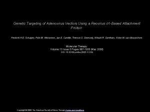 Genetic Targeting of Adenovirus Vectors Using a Reovirus
