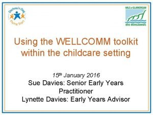 Using the WELLCOMM toolkit within the childcare setting