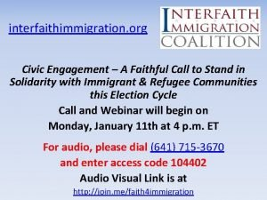interfaithimmigration org Civic Engagement A Faithful Call to